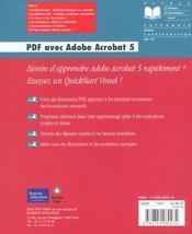 Peachpit Quickstart Visuel Pdf Acrobat 5 - 4ème de couverture - Format classique