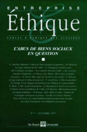 Entreprise Ethique N°7 - Couverture - Format classique