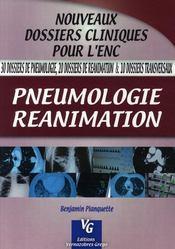 Pneumologie, réanimation - Couverture - Format classique