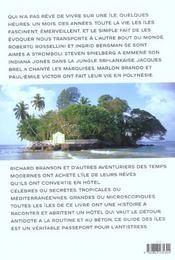Des Hotels Et Des Iles - 4ème de couverture - Format classique