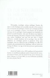 Loi Naturelle, Le Politique Et La Religion - 4ème de couverture - Format classique