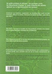 Plantes Pour Votre Cerveau - 4ème de couverture - Format classique