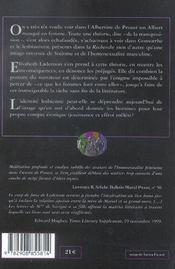Proust Lesbien - 4ème de couverture - Format classique