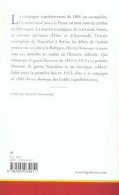Iena Et La Campagne De 1806 - 4ème de couverture - Format classique