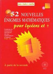 52 Nouvelle Enigmes Lycee - Intérieur - Format classique