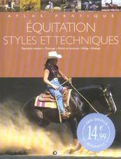 Equitation : Styles Et Techniques - Intérieur - Format classique