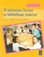 10 animations lecture en bibliothèque jeunesse - Intérieur - Format classique