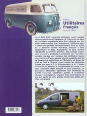 Petits Utilitaires Francais Depuis 1944 - 4ème de couverture - Format classique