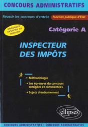 Inspecteur Des Impots Categorie A Concours Externe Et Interne Fonction Publique D'Etat - Intérieur - Format classique