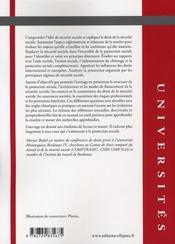 Droit de la sécurité sociale - 4ème de couverture - Format classique