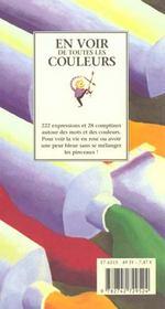 En voir de toutes les couleurs - 4ème de couverture - Format classique