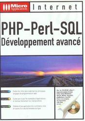 Php Perl Sql ; Developpement Avance - Intérieur - Format classique