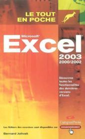 Excel 2002 Et 2003 - Couverture - Format classique