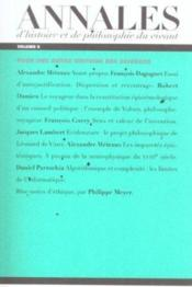 Les Annales D'Histoire Et De Philosophie Du Vivant, N 5, Hommage A Francois Dagognet - Couverture - Format classique