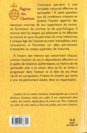 Vers La Maturite Spirituelle - 4ème de couverture - Format classique