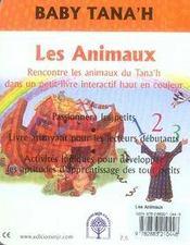 Les animaux - 4ème de couverture - Format classique