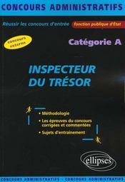 Inspecteur Du Tresor Categorie A Fonction Publique D'Etat Concours Externe Concours Administratifs - Intérieur - Format classique