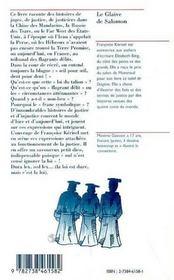 Le Glaive De Salomon ; Histoires De Justice Aux Quatre Coins Du Monde - 4ème de couverture - Format classique