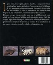 Les Lapins. Races, Soins, Élevage - 4ème de couverture - Format classique