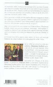Dans Le Concert Des Nations - 4ème de couverture - Format classique