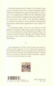 Provence et cevennes - 4ème de couverture - Format classique
