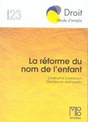 Reforme Du Nom De L'Enfant (La) - Intérieur - Format classique