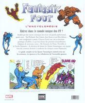 Fantastic Four ; L'Encyclopedie - 4ème de couverture - Format classique