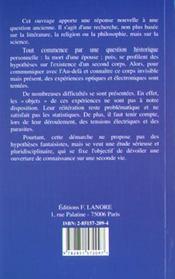 Essai De Metabiologie - 4ème de couverture - Format classique