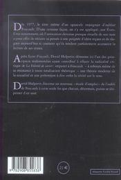 Oublier Foucault ; mode d'emploi - 4ème de couverture - Format classique