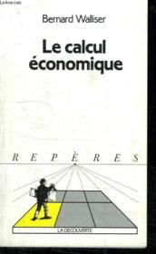 Le Calcul économique - Couverture - Format classique