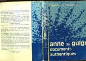 Anne De Guidne Documents Authentiques - Couverture - Format classique