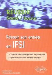 Reussir son entrée en IFSI - Intérieur - Format classique