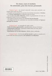 Francais lycee textes et methodes - 4ème de couverture - Format classique