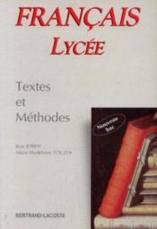 Francais lycee textes et methodes - Couverture - Format classique