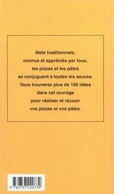 Pizzas et pates - 4ème de couverture - Format classique