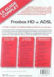 Freebox hd et adsl - 4ème de couverture - Format classique
