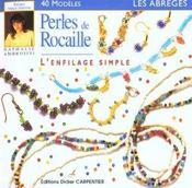 Perles De Rocaille - L'Enfilage Simple - Intérieur - Format classique