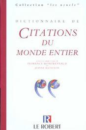 Dictionnaire De Citations Du Monde Entier - Intérieur - Format classique