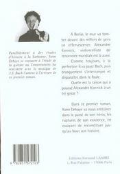 Suite N.1 Pour Violoncelle - 4ème de couverture - Format classique