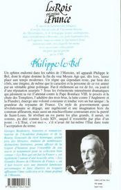 Les rois qui ont fait la France ; les Capétiens t.3 ; Philippe le Bel - 4ème de couverture - Format classique