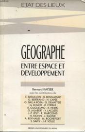 Geographe Entre Espace Et Developpement - Couverture - Format classique