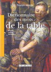 Dictionnaire Des Mots De La Table - Intérieur - Format classique