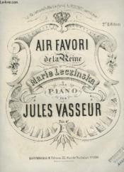 Air Favori De La Reine Marie Leczinska Pour Piano. - Couverture - Format classique