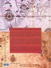 Les Explorateurs Et Les Grandes Decouvertes - 4ème de couverture - Format classique