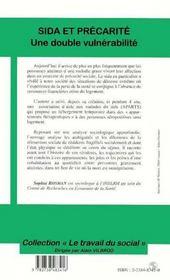 Sida Et Precarite ; Une Double Vulnerabilite - 4ème de couverture - Format classique