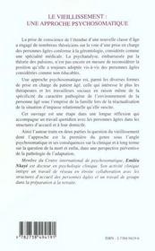 Le Vieillissement ; Une Approche Psychosomatique - 4ème de couverture - Format classique