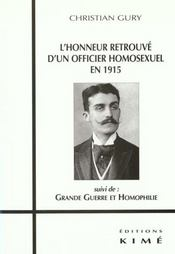 Honneur Retrouve D'Un Officier Homosexuel En 1915 (L') - Intérieur - Format classique