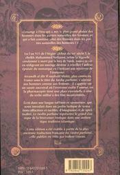 Le Jardin Parfume : Manuel D'Erotologie Arabe - 4ème de couverture - Format classique