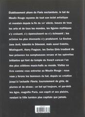 Moulin Rouge - 4ème de couverture - Format classique
