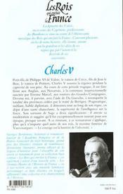 Les rois qui ont fait la France ; les Valois ; Charles V - 4ème de couverture - Format classique